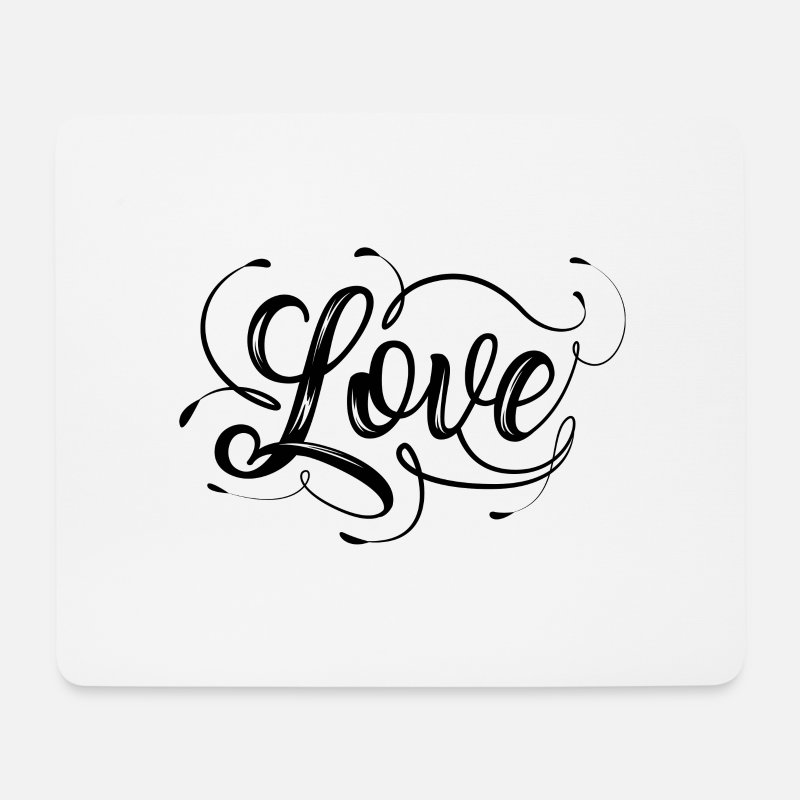 Valentine's Day Mouse pads  - Love love - Mouse Pad white
