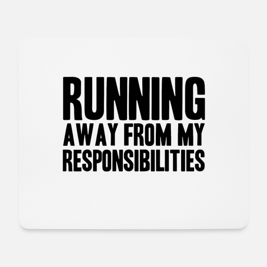 Away Mouse Pads - Run away - Mouse Pad white