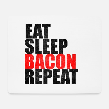 Speck Eat Sleep Bacon Repeat Bacon Breakfast Gift - Tappetino per mouse (orizzontale)