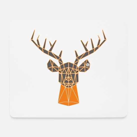 Red Deer Mouse Pads - Deer neck - Mouse Pad white