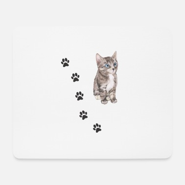 Pote Kat Shirt • Purring Cat • Gave - Mousepad (bredformat)