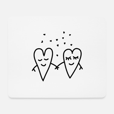 Love Valentines Day Love Hearts Couple Relationship girlfriend - Mouse Pad