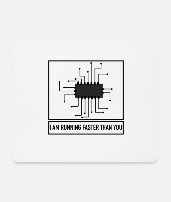Geek Mouse Pads - Board is Faster - Funny Gift Computer Science - Mouse Pad white