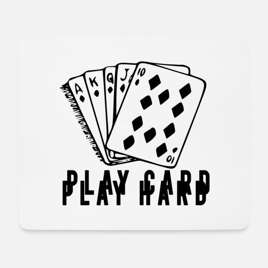 Play Poker Mouse Pads - poker - Mouse Pad white