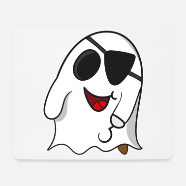 Wooden Leg Ghost pirate on Halloween for kids - Mouse Pad