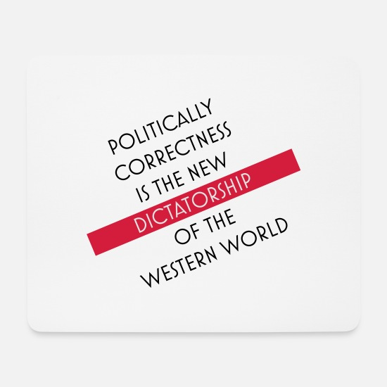 Political Mouse Pads - politically correct - Mouse Pad white