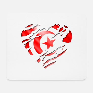 Peace Design Europe World Chad Ghana Tunisian africa flag tunisia tunisie - Mouse Pad