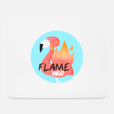 Officialbrands Flame Ingo Flamingo T-Shirt - Mousepad (Querformat)