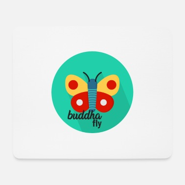 Officialbrands Maglietta Butterfly Buddha - Tappetino per mouse (orizzontale)