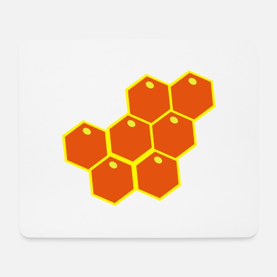 Honey Bee Mouse Pads - Bees honeycombs - Mouse Pad white