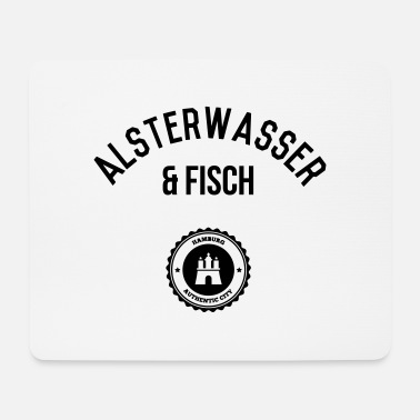 Alster Alster water and fish 1 (Hamburg) - Mouse Pad