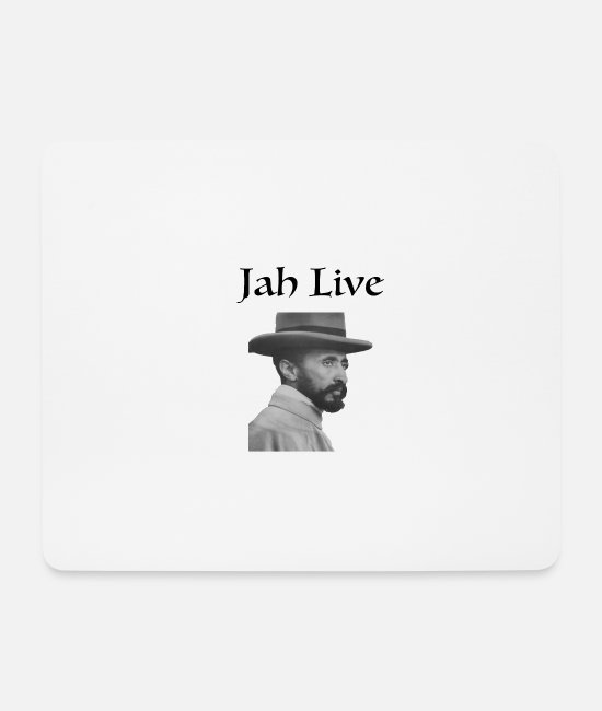 Circle Mouse Pads - jah live circle - Mouse Pad white