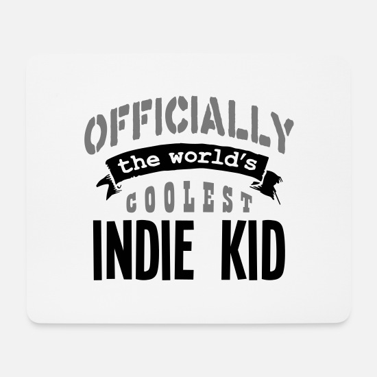 The Office Mouse Pads - indie kid officially the worlds coolest - Mouse Pad white