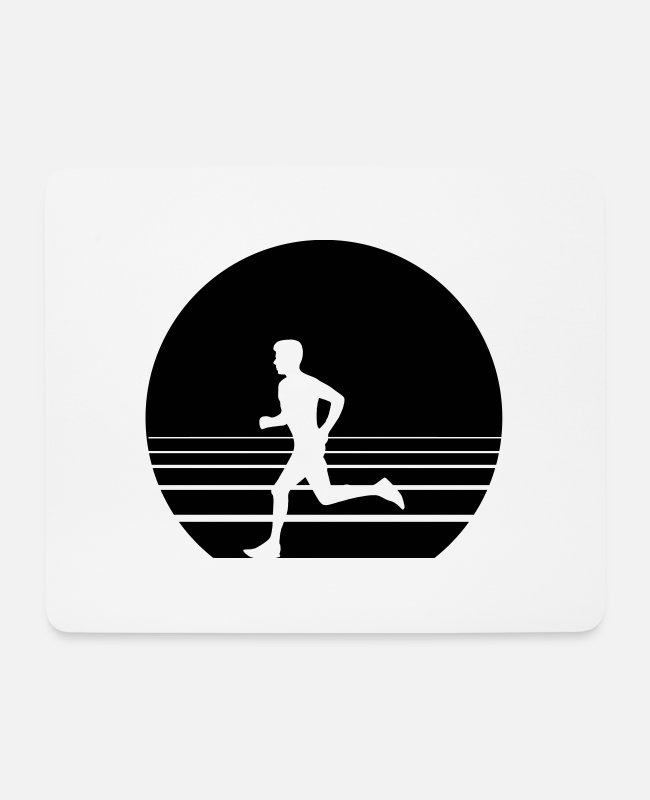Speed Mouse Pads - Runner Sundown - Mouse Pad white