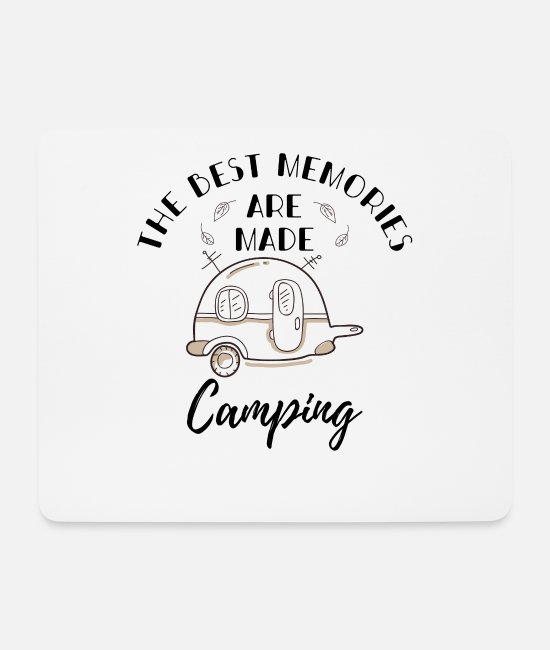 Birthday Mouse Pads - Camping camper caravan campsite saying tent - Mouse Pad white