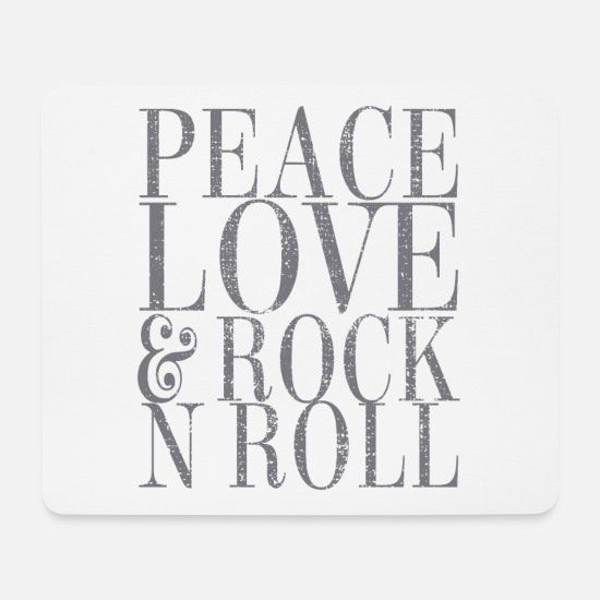 Rock 'n' Roll Mouse Pads - Rock And Roll - Mouse Pad white