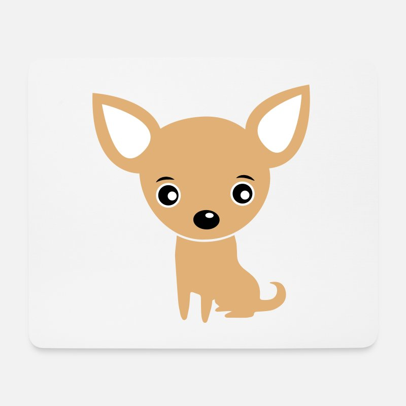Chihuahua Mouse pads  - Funny Cute Baby Chihuahua / Dog - Mouse Pad white