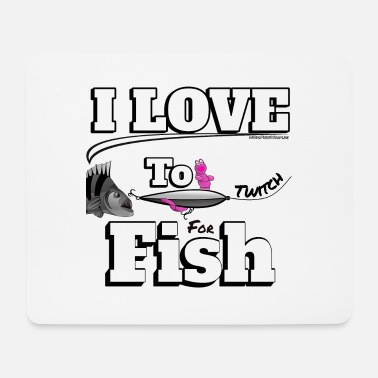 Karpfen I love to Twitch Fish - Angeln - Fishyworm - Mousepad (Querformat)