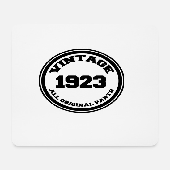 Birthday Mouse Pads - Year of birth 1923 - Mouse Pad white