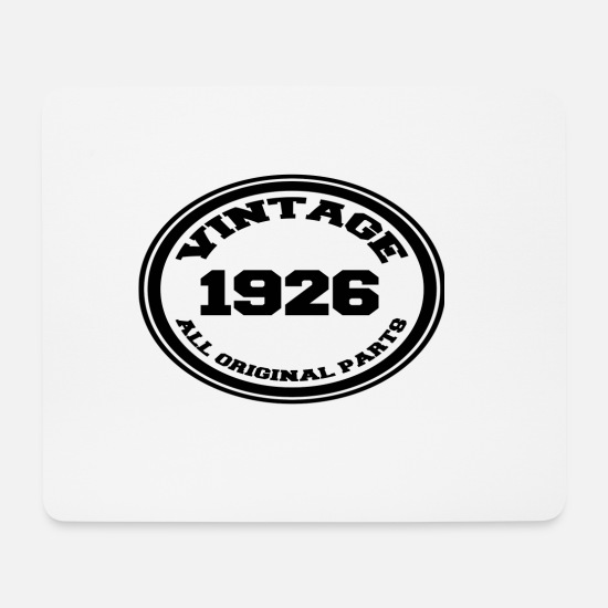 Birthday Mouse Pads - Year of birth 1926 - Mouse Pad white