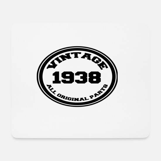 Birthday Mouse Pads - Year of birth / year 1938 - Mouse Pad white