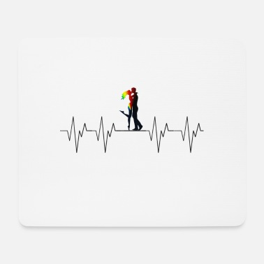 Couples Love Love Couple Couple Couple Heartbeat Heartbeat - Mouse Pad