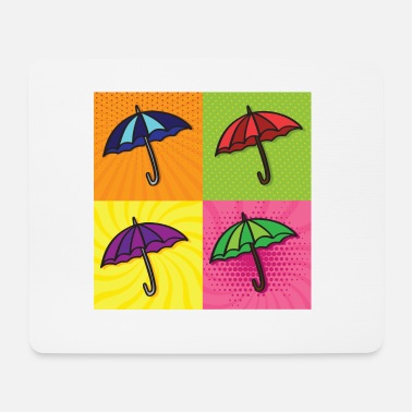 Keith Haring Pop Art / Comic: Regenschirm - Mousepad