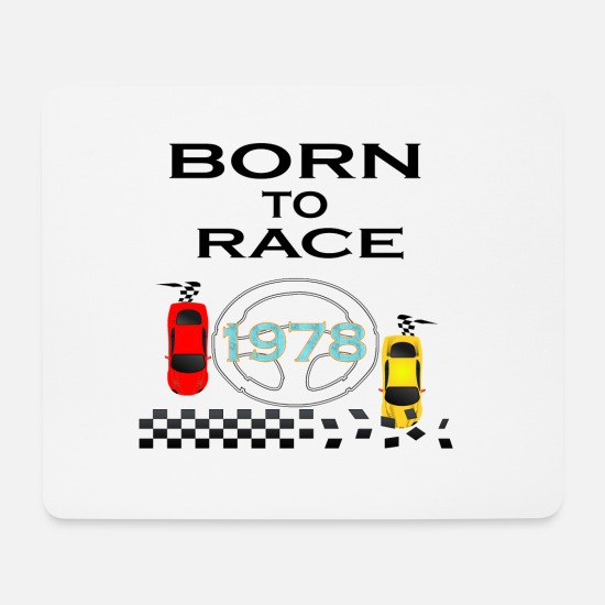 Love Mouse Pads - Born To Race Racing - Mouse Pad white