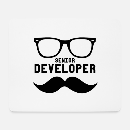 Developer Mouse Pads - Senior Developer - Mouse Pad white