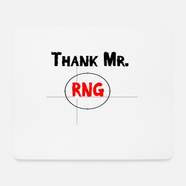 Game Over Thank Mr RNG FPS Gamer Rot - Mousepad (Querformat)