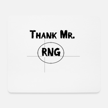 Game Over Thank Mr RNG FPS Gamer Black - Mousepad (Querformat)