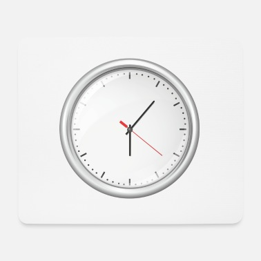 Clock Uhr Illustration - Mousepad (Querformat)