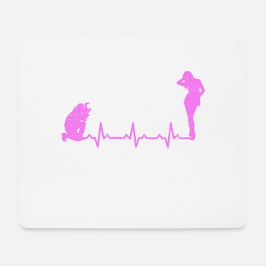 Nude Model Nude photography model heartbeat heartbeat gift - Mouse Pad