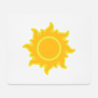Ray Hot fiery sun rays hot summer heat stars - Mouse Pad