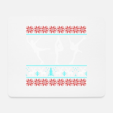 Pirouette figure skating ugly sweater xmas gift pirouette - Mouse Pad