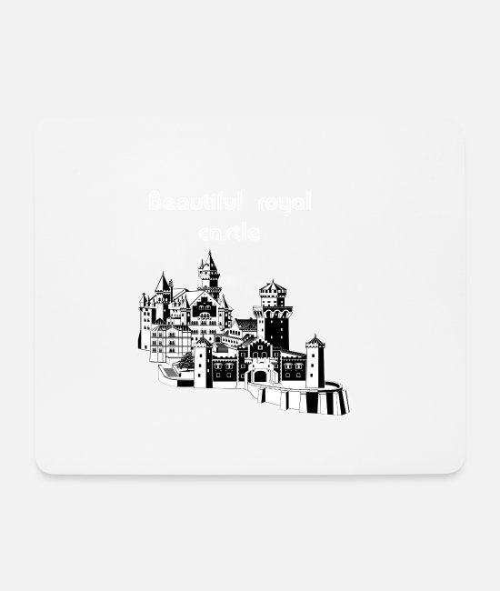 Locksmith Mouse Pads - Neuschwanstein Castle - Mouse Pad white