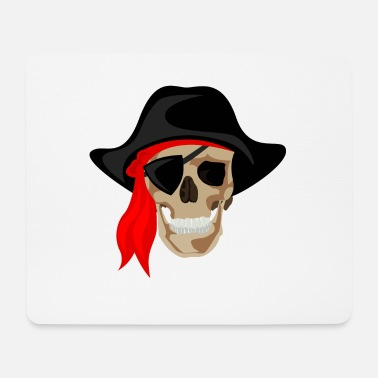 Skull Pirate - Bone Pirate - Skull - Mouse Pad