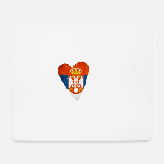 Country Mouse Pads - HOME SERBIA Homeland Serbia Homesick Gift - Mouse Pad white