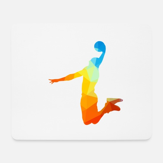 Dunk Mousepads  - slam dunk silhouette Basketball - Mousepad Weiß