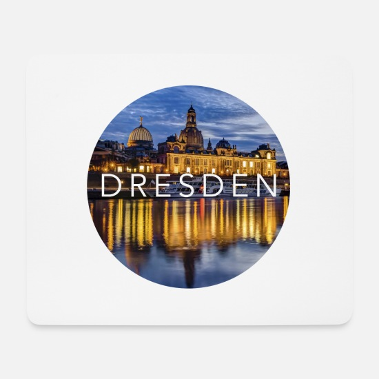 Travel Mouse Pads - Dresden - Mouse Pad white