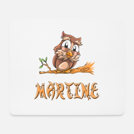 Martine Mousepads  - Eule Martine - Mousepad Weiß