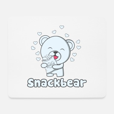 Snack Snack bear / snack bear with heart - Mouse Pad