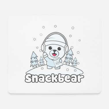 Snack Snack bear / snack bear in the snow - Mouse Pad