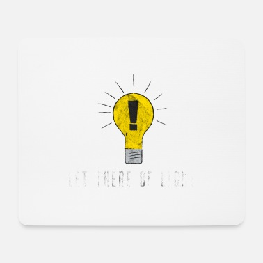 Coole Let there be light Glühbirne Geschenk Idee - Mousepad (Querformat)