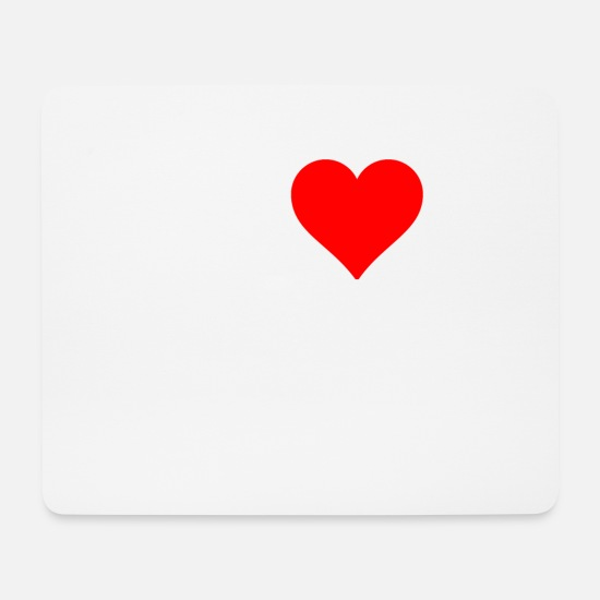 Love Mouse Pads - I love skinheads - Mouse Pad white