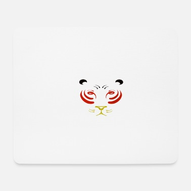 Tiger in Germany colors - Mouse Pad