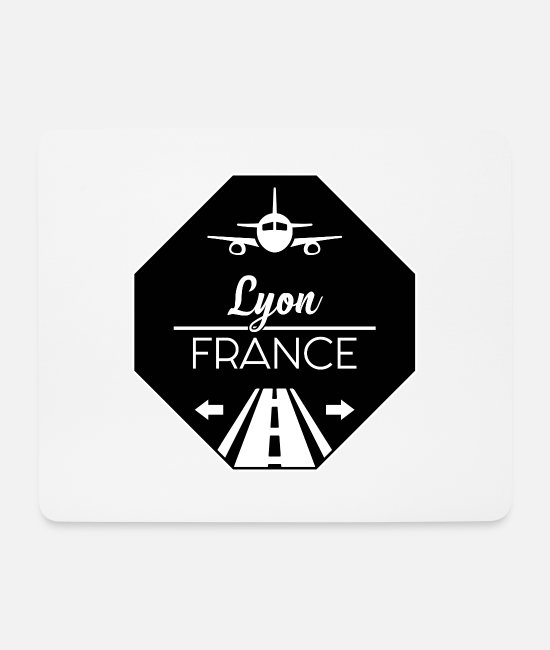 Travel Mouse Pads - Lyon France - Mouse Pad white