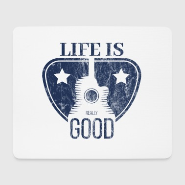 Life Is Really Good Guitar - Mouse Pad (horizontal)