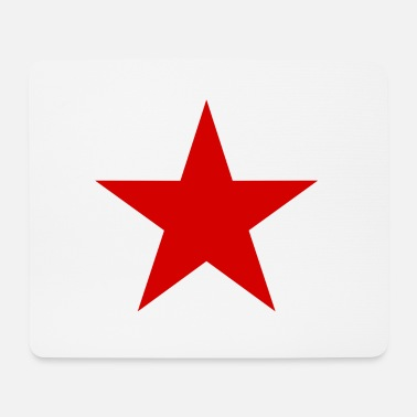 Red Star red, red star - Mouse Pad