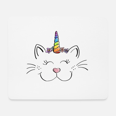 Licorne Caticorn - Cat Unicorn - Bande dessinée - Fun - Cadeau - Tapis de souris